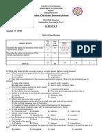 1st Summative Test A
