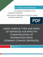 Q4 W2 D3 Complex Sentences