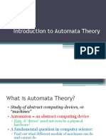 Theory of Automata - Introduction