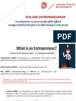 Lecture 1 Introduction to Entrepreneurship
