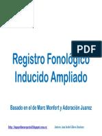 Registro Fonológico Inducido Ampliado