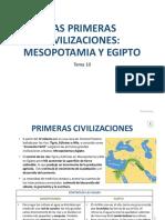 Tema 10. Las Primeras Civilizaciones. Sociales.1ºESO