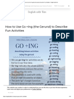 How to Use Go +Ing (the Gerund) to Describe Fun Activities • English with Kim