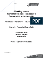 French B Paper 2 SL Markscheme French