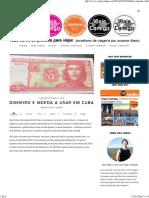 Dinheiro e Moeda a Usar Em Cuba