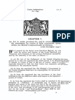 Ceylon Independence Act 1947