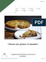 Gâteau aux prunes et amandes | Mes recettes Healthy