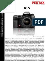 Comunicato K 5 IT