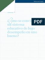 Cómo se convierte un sistema educativo de bajo desempeño en uno bueno. McKinsey.pdf
