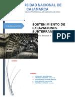 Sostenimiento en Excavaciones Subterranes