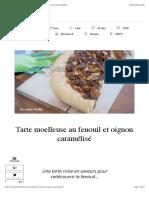 Tarte moelleuse au fenouil et oignon caramélisé | Mes recettes Healthy