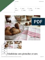 Madeleine à la compote de poire maison | Mes recettes Healthy