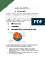 Características Del Planeta Tierra