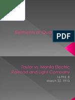 Elements of Quasi-Delict