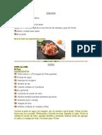 Recetas de Gastronomía Maya