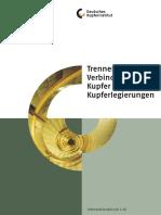 Trennen und Verbinden von Kupfer und Kupferlegierungen