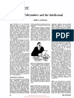 The policimaker and the intellectual