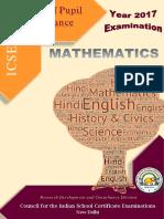 Mathematics ICSE 17