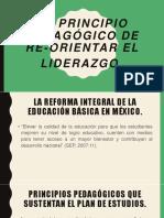 El Principio Pedagógico de Re-Orientar El Liderazgo.