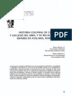 Historia Colonial de Conchi Viejo No Chile
