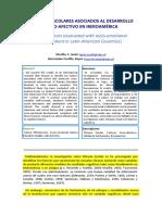 Factores Escolares Asociados Al Desarrollo Socio-Afectivo en Iberoamérica