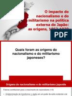 O impacto do nacionalismo e do militarismo na política externa do Japão