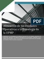 Alineación de las Unidades Operativas a la Estrategia de la UPMP