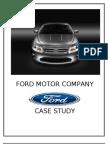 Strategic Analysis on Ford motor