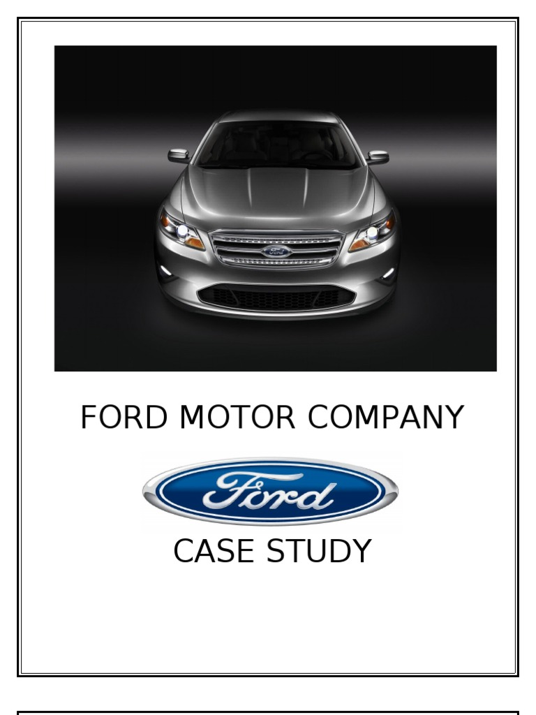 ford motor company business level strategy