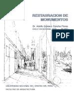 Silabo de Restauración de Monumentos / UNCP