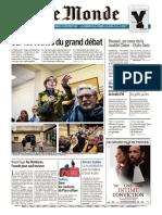 Journal LE MONDE Et Suppl Du Dimanche 3 Et Lundi 4 Fevrier 2019