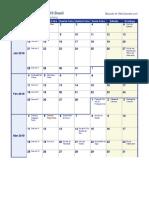 Calendario Semanal 2019 Segunda Feira