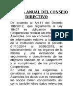 Consejo Anual Directivo