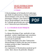 Charge Et Interactions Electrostatiques