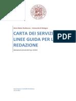 UniBo_Linee Guida Carta Dei Servizi
