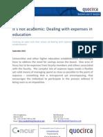 It's not academic