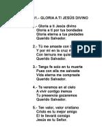 061.- Gloria a Ti, Jesus Divino