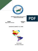 Tarea IV Geografia de America y El Caribe