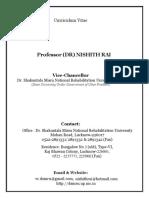 Cv Dr. Nishith Rai-Vc of Smnru