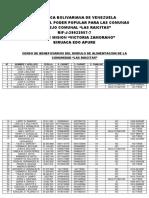 Censo Demografico Del Consejo Comunal Las Raicitas