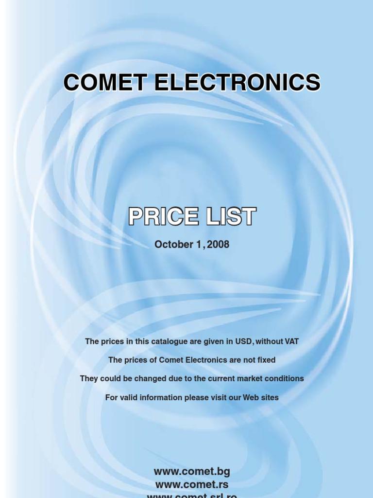 Comet Electronics Price List | Microcontroller | Integrated Circuit