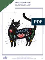 Patron de Bordado- Gato-DMC