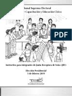 Instructivo Para Junta Receptora de Votos JRV Eleccion 2019
