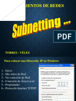 Subnetting - FUNDAMENTOS DE REDES