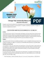Holanda OrangeTulipScholarship 2019 2020