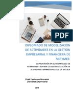 Diplomado Modelización de Actividades en La Gestión Empresarial y Financiera de Mipymes