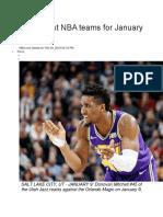 Best, Worst NBA Teams for January 2019