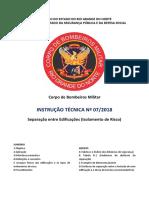 Instrução Técnica 072018 - Separação Entre Edificações (Isolamento de Risco)