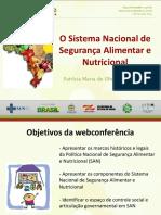Slides - Espaços de Decisão Da Politica Da Segurança Alimentar e Nutricional