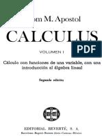 Apostol, Calculo i